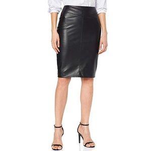 Karen Millen Faux Leather Pencil Skirt